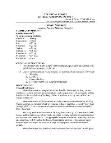 Canine Minerals - RX Vitamins
