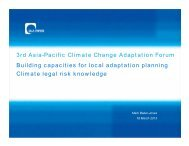 3rd Asia-Pacific Climate Change Adaptation Forum Building ...