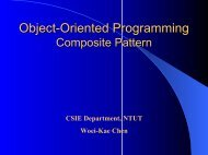 Object-Oriented Programming Design patterns Composite Pattern