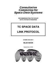TC Space Data Link Protocol - CCSDS