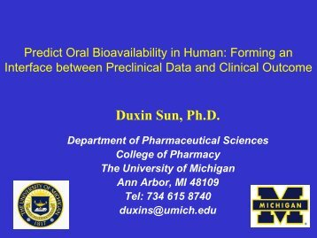 Duxin Sun, Ph.D. - American Association of Pharmaceutical Scientists