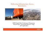 Delivering Infrastructure Across Boundaries