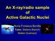 An X-ray/radio sample of Active Galactic Nuclei - ESAC Trainee ...