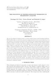 THE INFLUENCE OF LIMITED KINEMATIC HARDENING IN ...