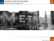 Security Lunch mit riverbed. - terreActive AG