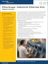 EtherScope™ Industrial Ethernet Kits - Fluke Networks