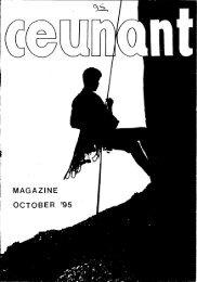 October 1995 Magazine - Ceunant Mountaineering Club