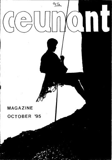 October 1995 Magazine - Ceunant Mountaineering Club