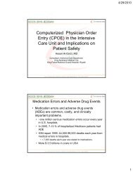 Computerized Physician Order Entry (CPOE) in the ... - RM Solutions
