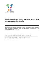 PowerPoint Guidelines – AIDS 2006
