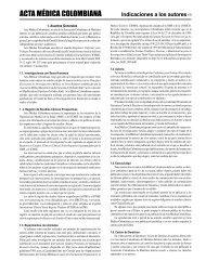 Indicaciones a los autores (1) - Acta Médica Colombiana