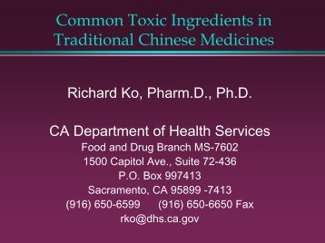 Strychnos nux-vomica L - California Association of Toxicologists