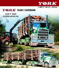 TECAIR 2 SUSPENSION - York Transport Equipment