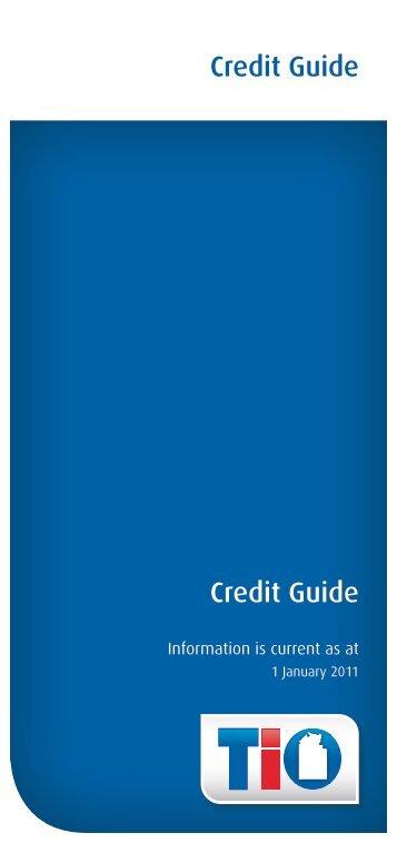 Credit Guide Credit Guide - TIO