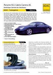 Umfassender Test Porsche 911 Cabrio Carrera 4S - ADAC
