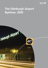 Edinburgh Airport Byelaws, 2005