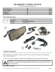 REARSIGHT CAMERA SYSTEM - Rostra