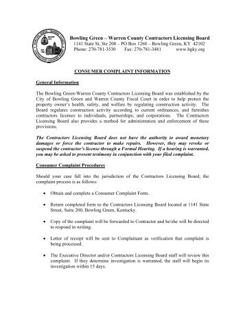Complaint Form   City Of Springfield