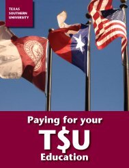 Paying for Your Education - Texas Southern University: ::em.tsu.edu