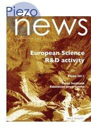 European Science R&D activity - Piezo Institute