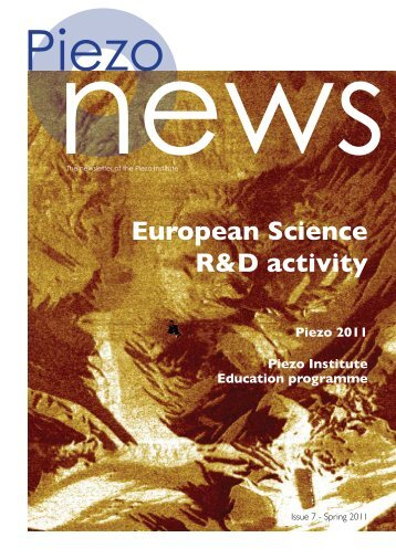 European Science R&D activity - Piezo Institute