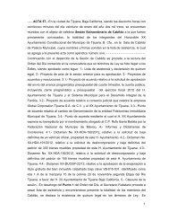 1 - - - ACTA 57.- En la ciudad de Tijuana, Baja California, siendo las ...