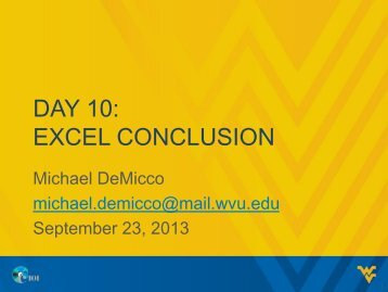 DAY 10: EXCEL CONCLUSION