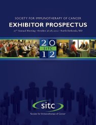 EXHIBITOR PROSPECTUS - Society for Immunotherapy of Cancer