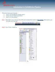 Introduction to SolidWorks Plastics - The SolidWorks Blog