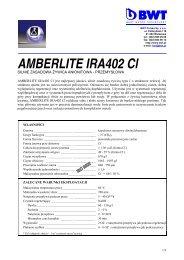 AMBERLITE IRA402 Cl - BWT Polska