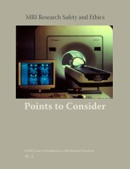 MRI Research Safety and Ethics: Points to Consider - NIMH