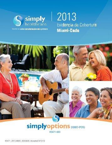 Evidencia de Cobertura 2013 - Simply Healthcare Plans
