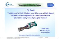 Validation of a High Efficient Low NOx core, a High Speed Turbine ...