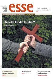 Esse 21/2011 (pdf) - Espoon seurakuntasanomat