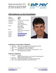 Informationen zu den Kandidaten - EVP