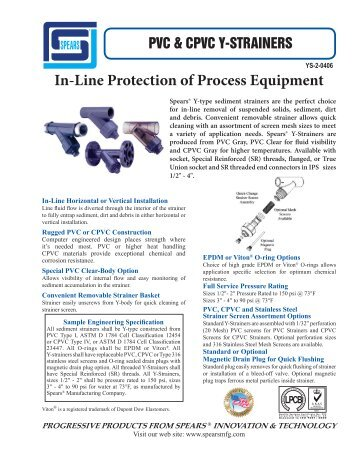 Spears Y-Strainer.pdf - Aetna Plastics Corporation