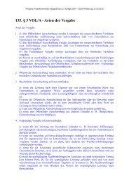 135. § 3 VOL/A - Arten der Vergabe - Oeffentliche Auftraege