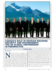 canada's role in russian weapons security and disarmament: the g8 ...