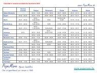 calendario delle vacanze scolastiche 2012 in ... - Pepe Mare