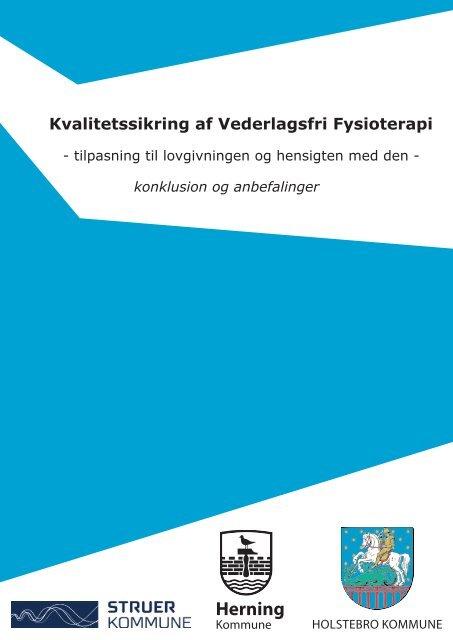 Kvalitetssikring af vederlagsfri fysioterapi ... - Struer kommune