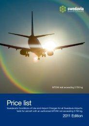 Price list - Swedavia
