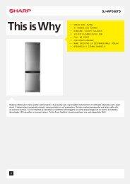 SJ-WP360TS - SJWP360TS - Bottom Freezer - Sharp Electronics