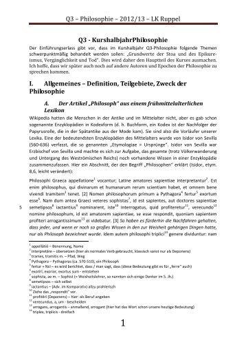 Q3 – Philosophie - Unterrichtsmaterialien für Latein und Geschichte ...