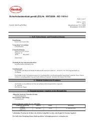 Sicherheitsdatenblatt gemäß (EG) Nr. 1907/2006 ... - Wendisch-PS