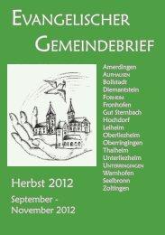 September-November 2012 - Unterringingen