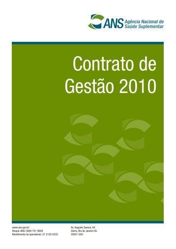 Contrato de Gestão 2010 - ANS
