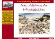 Industrialisierung des Wirtschaftslebens - Stephan Tesch