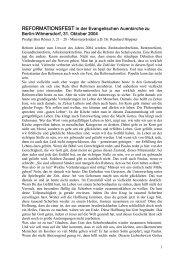 Predigt am Reformationstag 2004 von Ministerpräsident a.D. Dr ...