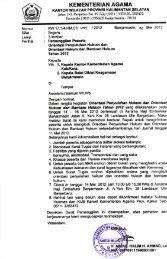 Surat Pemanggilan Peserta - Kanwil Kemenag Provinsi Kalimantan ...