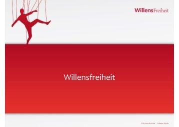 Willensfreiheit - Allgemeine I